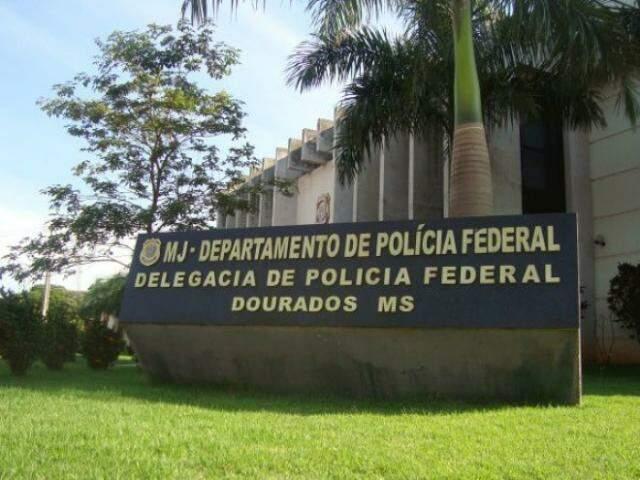 Sede da PF em Dourados, onde caso contra delegado também foi apurado. (Foto: DPF/Divulgação)