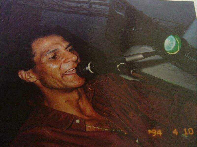 Haroldo em 1994 durante as festas no Clube Surian (Foto: Arquivo/ Marquinhos Spinosa)