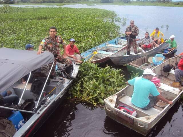 PMA faz operação para coibir pesca ilegal com a morte de peixes no Pantanal. (Foto: Divulgação)