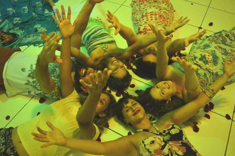 Grupo encerrou a puja com dança e celebração  (Foto: Naiane Mesquita)
