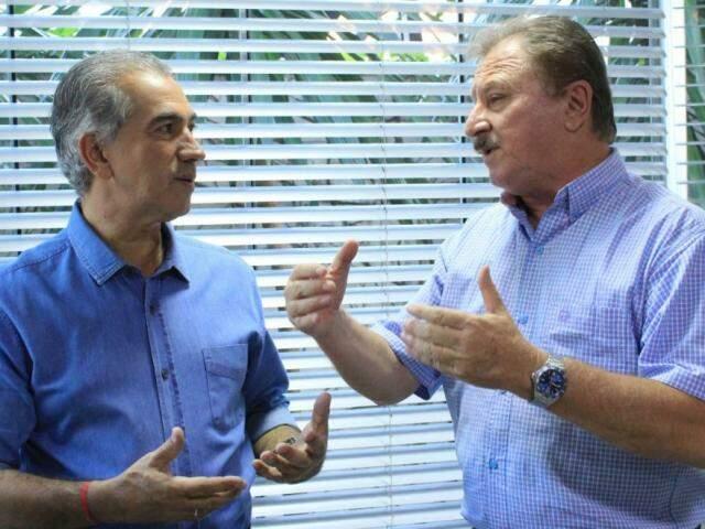 Reinaldo e Nabhan Garcia discutiram proposta de unificação dos ministérios da Agricultura e Meio Ambiente; em MS, união existe na Semagro. (Foto: Divulgação)