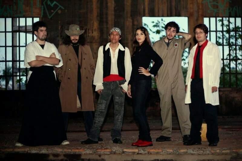 Flávio, Bruno, Tiago, Leiliane, Ravi e Roberto integram a banda Akai Me (Foto: Giovana Anello)