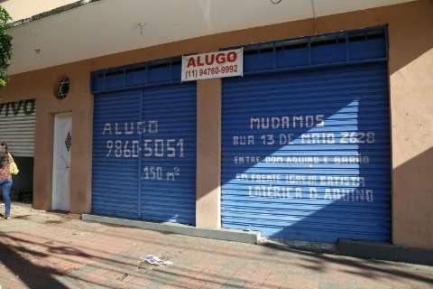 Com aluguel caro, rua importante do Centro fecha lojas e até shopping