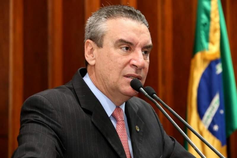 Côrrea na sessão de 26 de outubro da Assembleia. (Foto: Divulgação/ALMS)