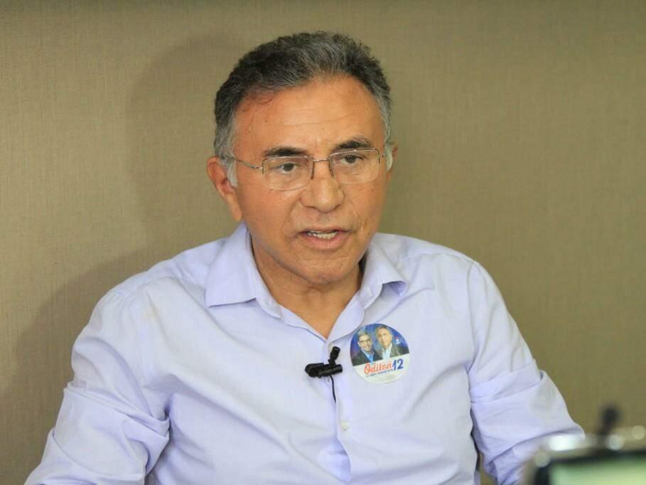 Odilon de Oliveira, do PDT, durante entrevista no Campo Grande News. (Foto: Marina Pacheco).