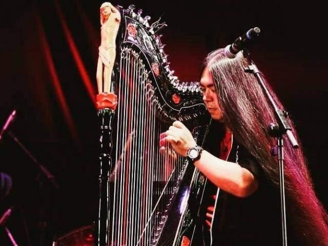 Fábio Kaida levará sua harpa para tocar no evento (Foto: Arquivo pessoal)