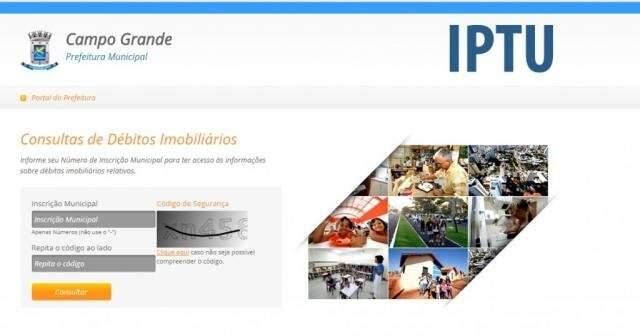 Site para impressão do boleto do IPTU está normalizado. (Foto: Reproduçao)