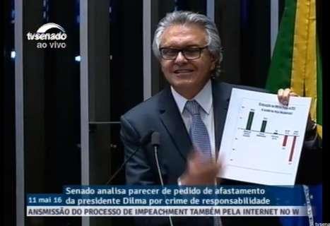 Senadores retomam discursos em processo de impeachment de Dilma