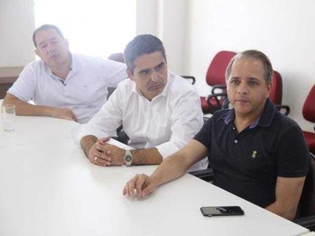 Gerson Claro, Herculano e Coronel David, que integram o G-6; grupo almeja se tornar bloco e disputar espaços em comissões e na Mesa Diretora. (Foto: Paulo Francis)