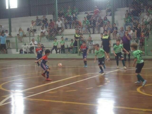 Jogos da Copa Pelezinho no Ginásio União dos Sargentos (Foto: Divulgação)