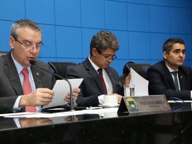 Deputados aprovaram projetos, na sessão desta terça-feira (Foto: Assessoria/ALMS)