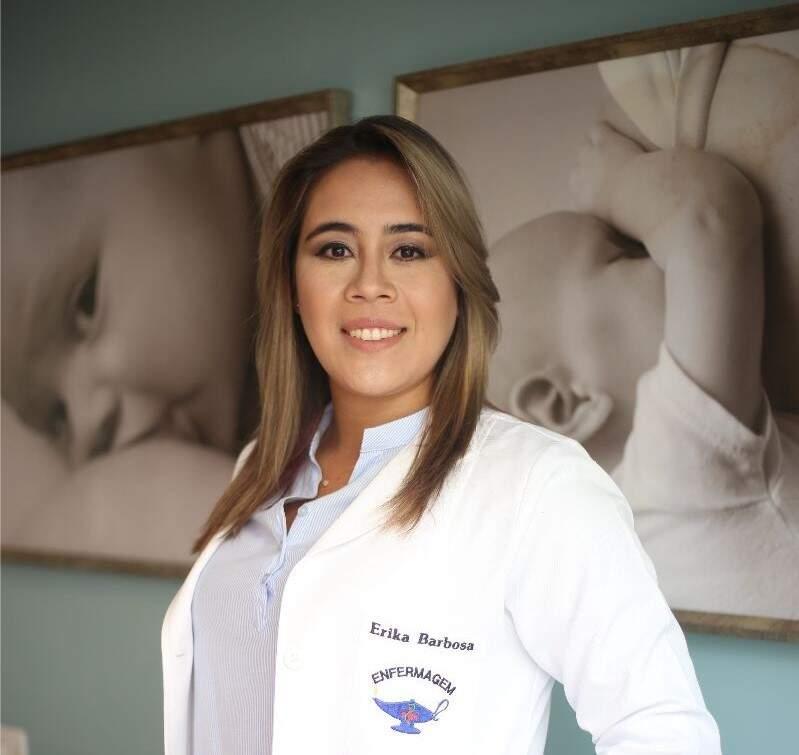 Erika é enfermeira e ela quem ministra o encontro. (foto: Acervo Pessoal)
