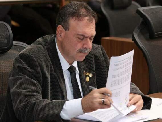 Deputado estadual do PMDB, Paulo Siufi. (Foto: Roberto Higa e Victor Chileno/ALMS).