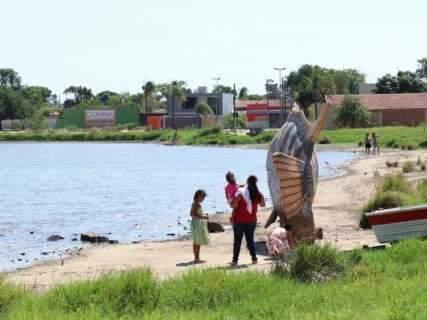 Após assoreamento, prefeito fará limpeza geral na Lagoa Itatiaia