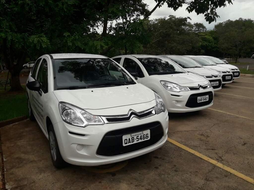 Carros foram entregues nesta manhã no pátio da Secretária de Saúde (Foto: Ricardo Campos Jr.)