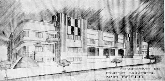 Colégio Dom Bosco, desenho de Urlass.