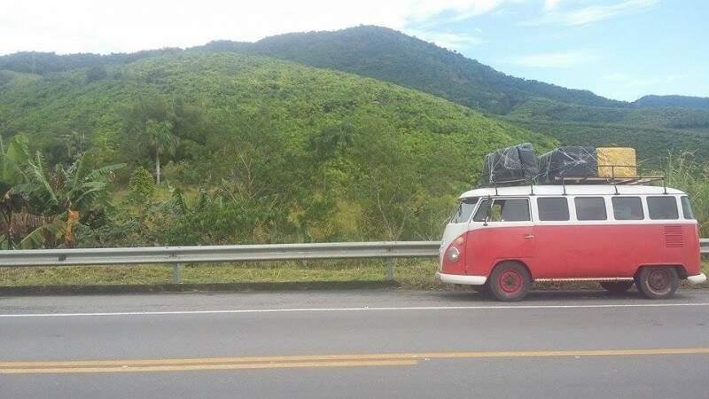 Estilosa, na estrada (Foto: Arquivo Pessoal)