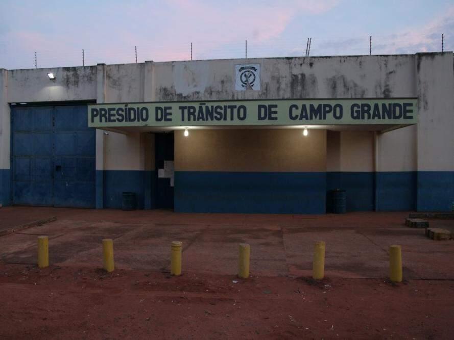Fachada do Presídio de Trânsito que fica no Complexo Penitenciário do Noroeste (Foto: arquivo/Campo Grande News)