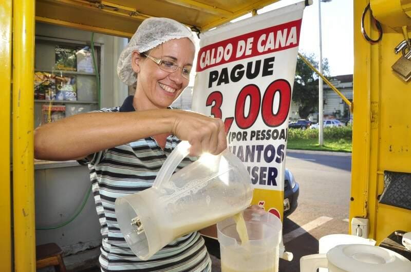 Diferencial da garaparia é o caldo batido no liquidificador. (Foto: João Garrigó)