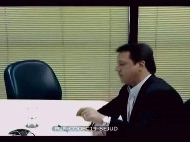 Wesley Batista durante depoimento à PGR (Foto: Reprodução)