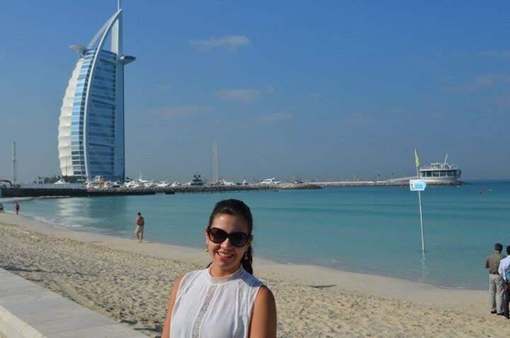 Em Dubai, Emirados Árabes. (Foto: Arquivo Pessoal)