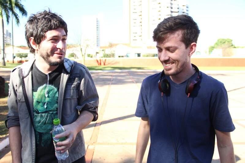 Os amigos Bruno e Lucas foram os responsáveis por organizar o encontro