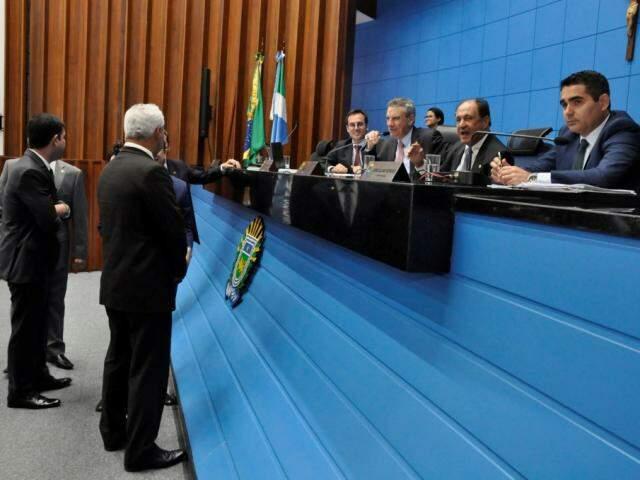 Deputados aprovaram projeto na sessão desta quinta-feira (Foto: Assessoria/ALMS)