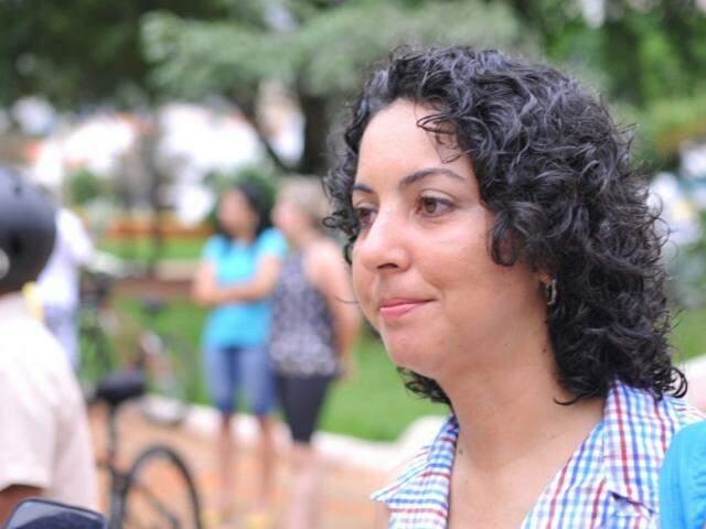 """Mobilizadora regional da """"Bike Anjo"""", Elijane Coelho. (Foto: Alcides Neto)"""