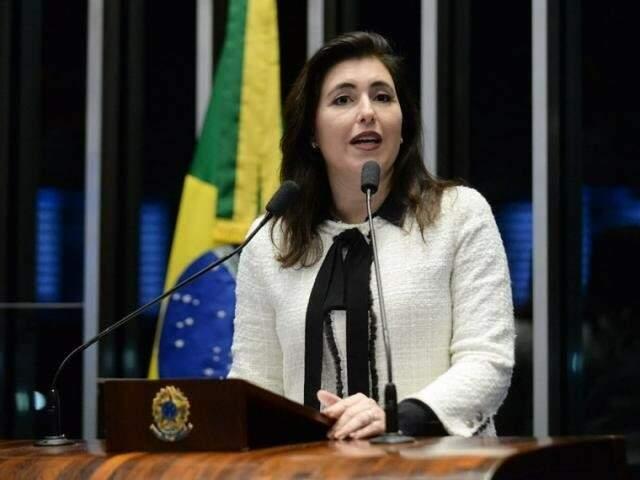 Simone afirma que vai abrir seu voto e nega apoio a Renan Calheiros que, para ela, não levará paz ao Senado. Foto: Jefferson Rudy/Agência Senado/Arquivo)