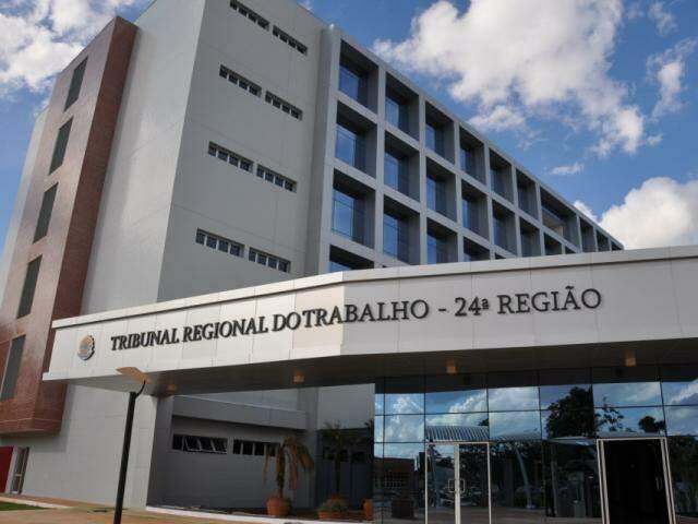 Fachada do Tribunal Regional do Trabalho de MS. (Foto: Divulgação)