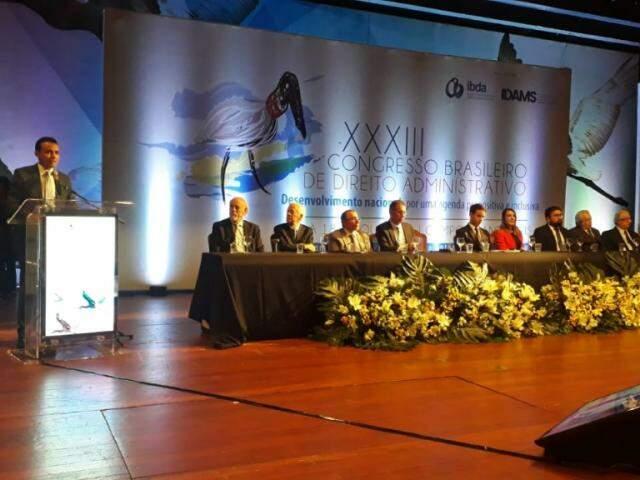 Presidente do IDAMS, João Paulo Lacerda, durante abertura do congresso (Foto: Fernanda Palheta)