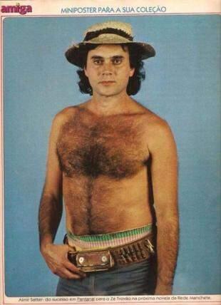 Almir bonitão nos tempos da novela Pantanal, de 1990.