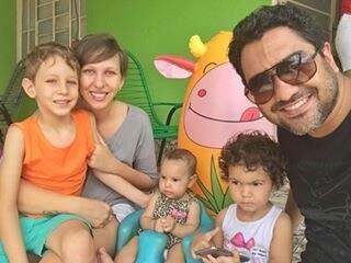 JP, Glê, Maria Flor, Maria Luisa e João Francisco (Foto: Arquivo Pessoal)
