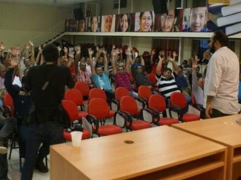 Votação aconteceu durante assembleia geral na tarde de hoje (1º) (Foto: Divulgação/ACS)