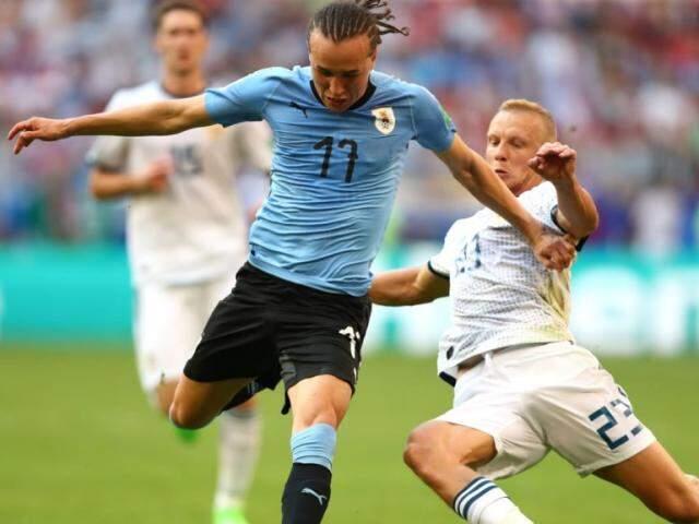 Uruguai e Russia estavam classificados e definiram apenas a ordem em jogo nesta segunda (Foto: divulgação/Fifa)