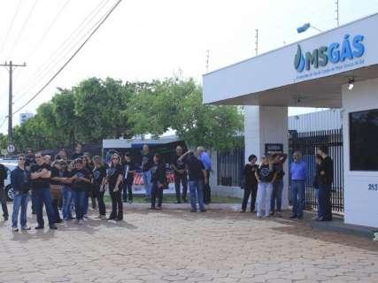 Com medo de privatização, funcionários da MSGás fazem paralisação