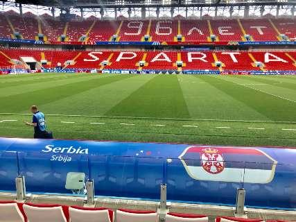 Previsão de casa cheia no Spartak Stadium para Brasil e Sérvia