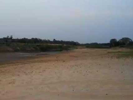 """Motorista percorre trecho do Taquari que já virou """"deserto"""" em MS"""