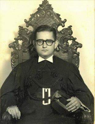 Formatura Ruben Figueiró em Direito, no Rio de Janeiro, em 1956.