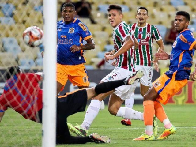 Flu passou por facilidade contra o Novo, esta noite (11).(Foto:Fluminense/FC)