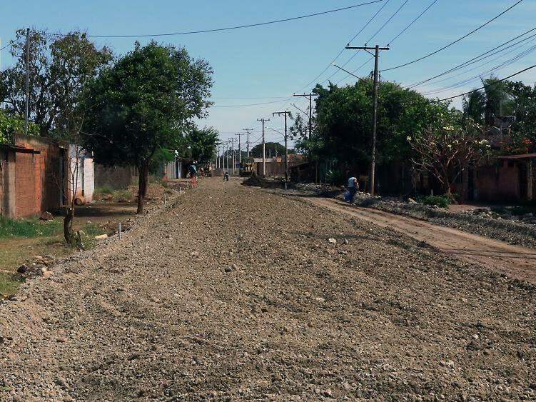Obras na Avenida Nossa Senhora das Mercês, Conjunto Residencial Padre Ernesto Sassida (Foto: Edemir Rodrigues)