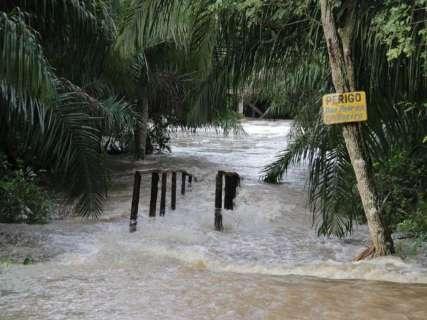 Chuvas fazem Rio Formoso subir 3 metros na 'maior cheia em 20 anos'
