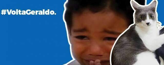 Vídeo viral do menino que chorou pra conhecer o Raça Negra também entrou pra campanha.
