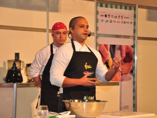 Espaço Cozinha Show, onde restaurantes vão expor os sabores e ensinar a receita, durante Arena Gastronômica. (Foto: João Garrigó)