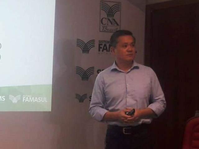 Presidente da Famasul, Maurício Saito (Foto: Izabela Sanchez)