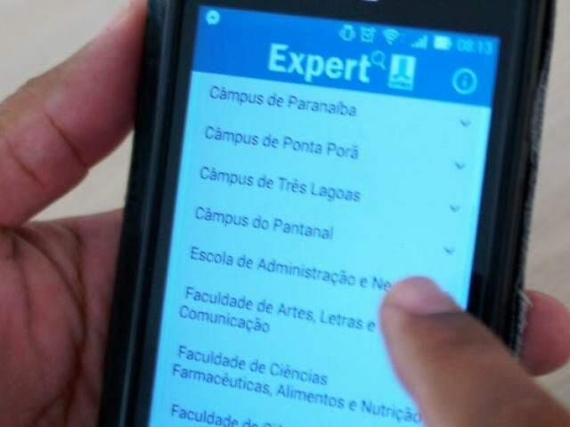 Layout do aplicativo para celular. (Foto: Divulgação/UFMS)