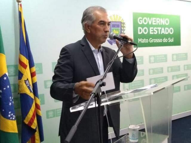 Governador durante evento nesta segunda-feira (Foto: Leonardo Rocha)