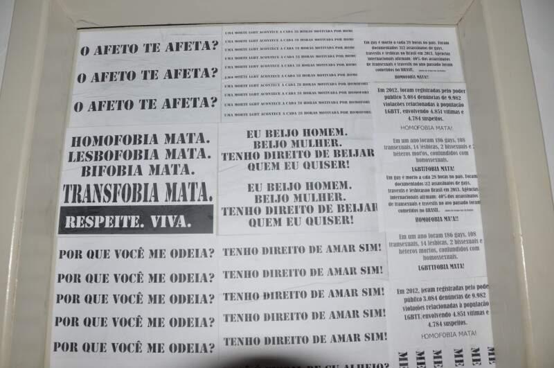 Alguns dados sobre a homofobia no Brasil também foram divulgados. (Foto: Marcelo Calazans)