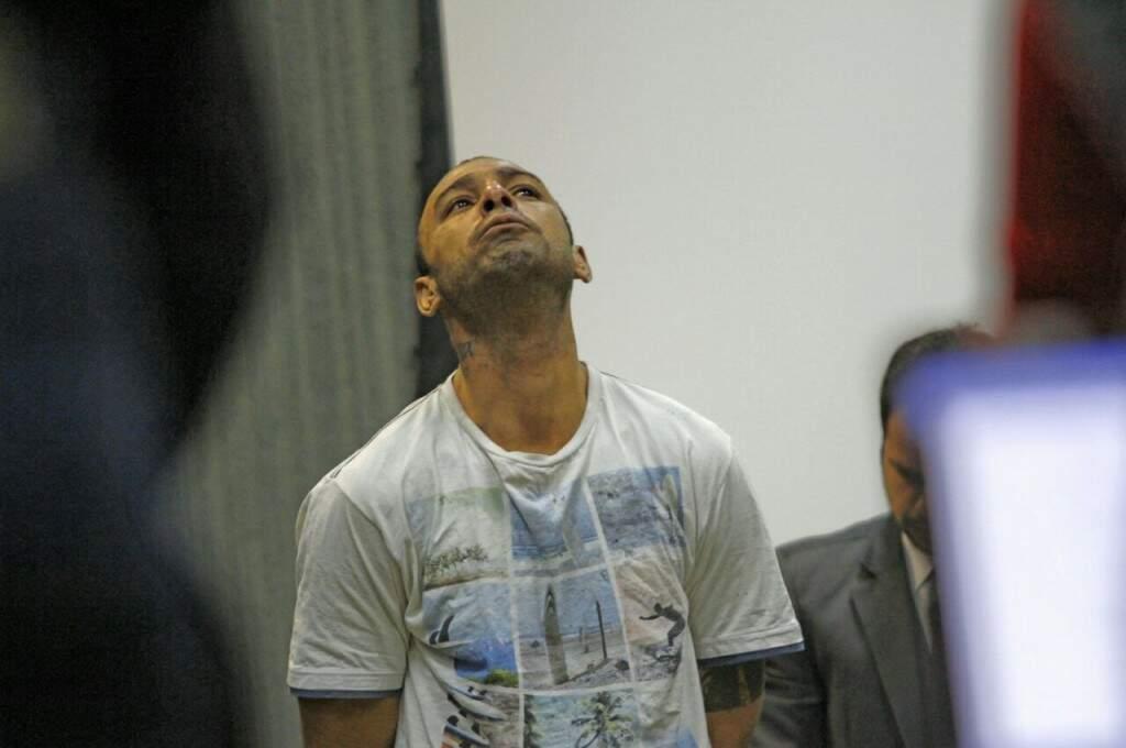 Edhem Araújo durante julgamento nesta manhã (Foto: Saul Schramm)