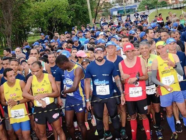 Largada da corrida pedestre da prova do ano passado (Foto: Funesp/Divulgação)